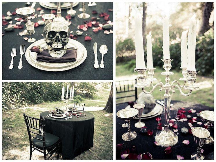 Правильно подбираем оформление готической свадьбы