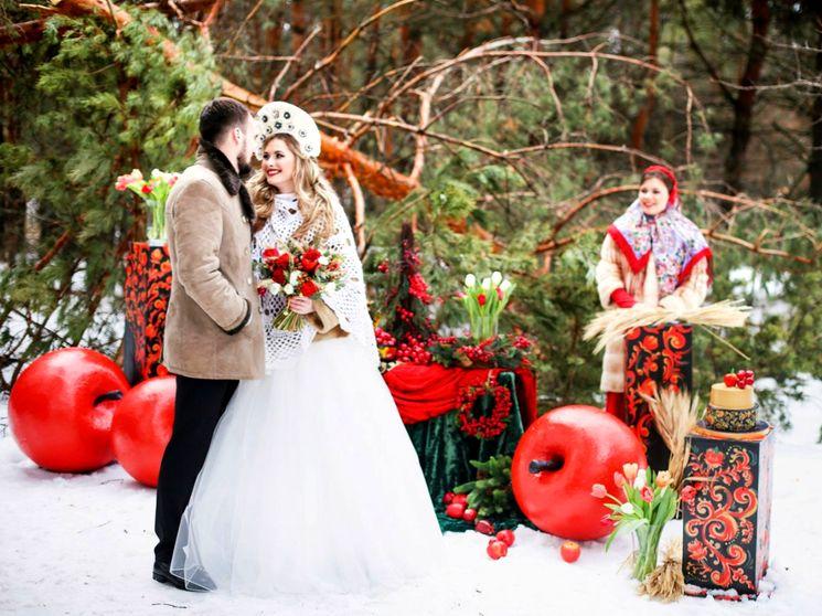 Роскошная свадьба в русском стиле