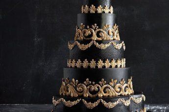 Торт для готической свадьбы