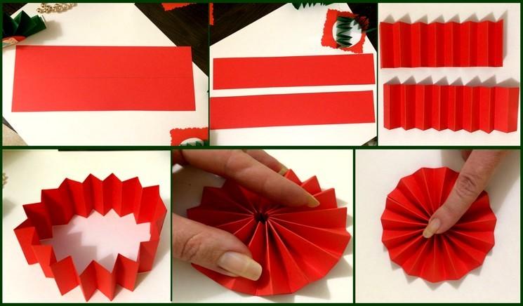 Ёлочная игрушка - поделка из бумаги