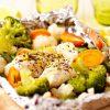 Рецепт запеченной рыбы с овощами