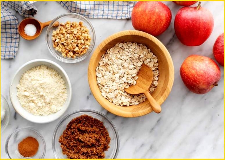 Ингредиенты для запечённых яблок с начинкой