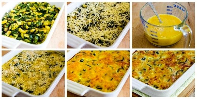 Пошаговый рецепт запеканки из кабачков с сыром
