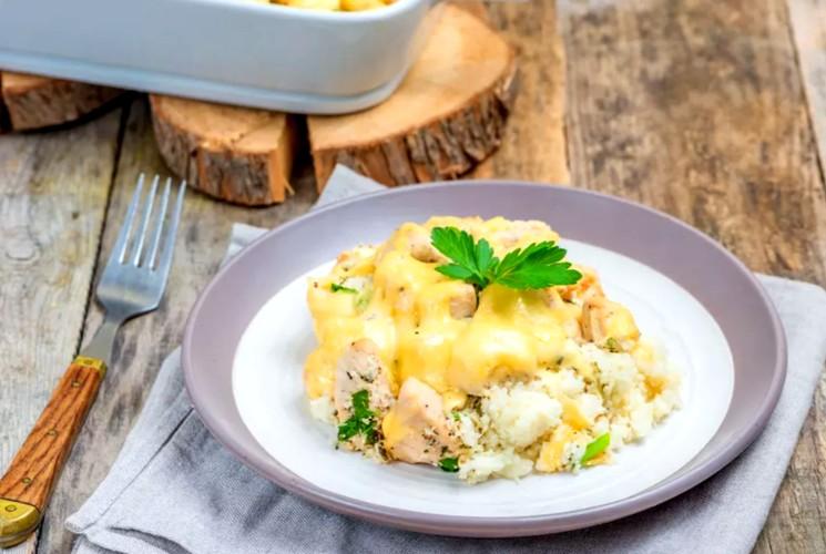 Запеканка с цветной капустой и курятиной - пошаговый рецепт с фото