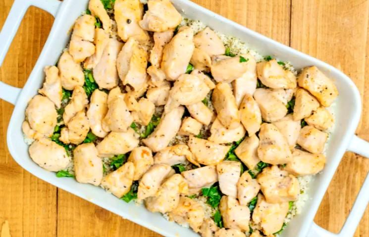 Рецепт запеканки - курятина и цветная капуста